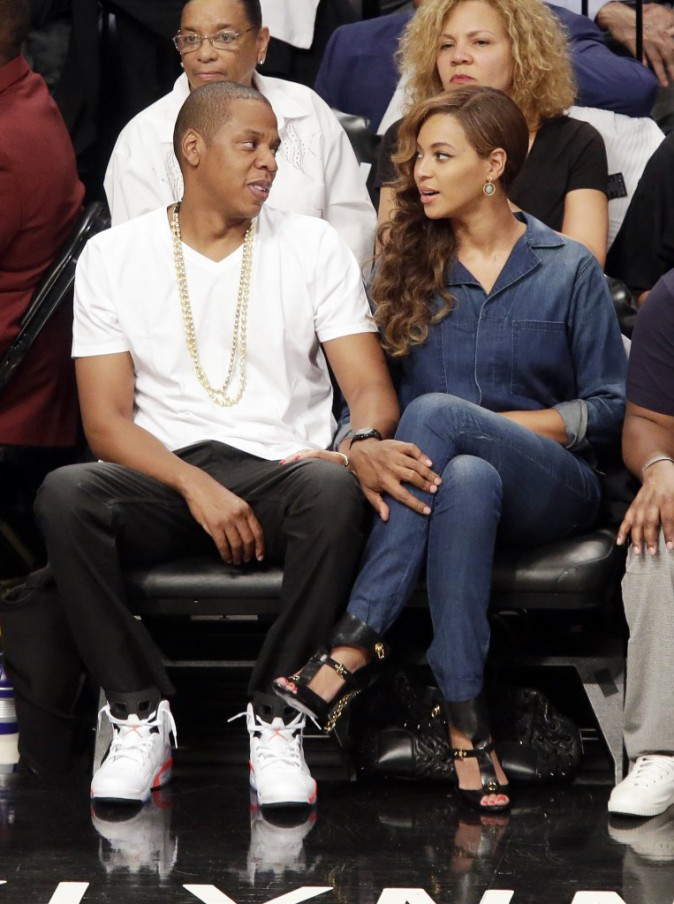 Jay-Z et Beyoncé au Barclays Center à New York, le 12 mai 2014.