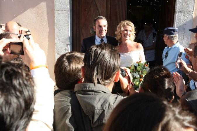 Son mariage avec Alexandra Lamy en 2009...