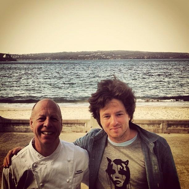 Avec le chef Serge Dansereau