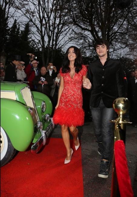 Jenifer et Louis Delort le 19 octobre 2012 avant l'enregistrement de l'émission Champs Elysées