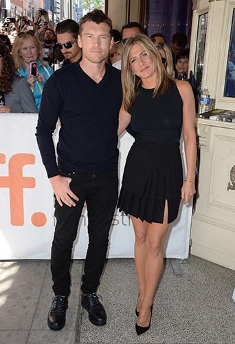 Sam Worthington et Jennifer Aniston à Toronto le 8 septembre 2014
