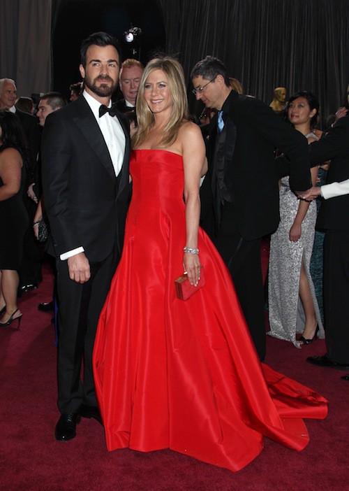 Avec Justin Théroux: un couple glamour pour les Oscars