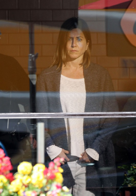 Jennifer Aniston sur le tournage de son nouveau film, Cake, à Los Angeles le 8 avril 2014