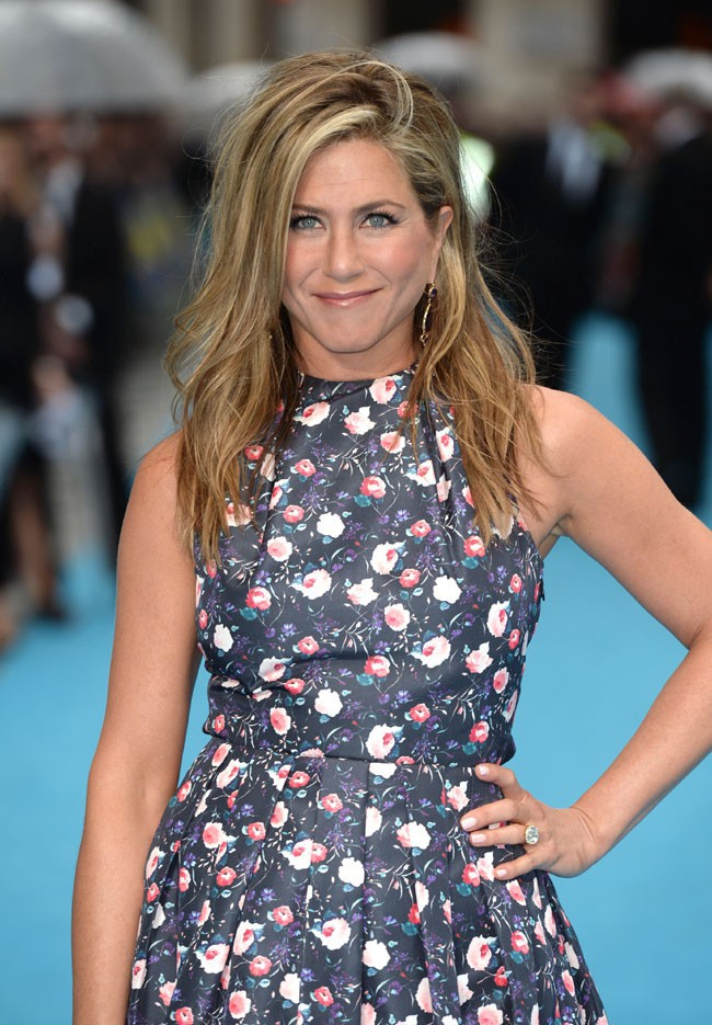 """Jennifer Aniston à l'avant-première européenne des """"Miller, une famille en herbe"""" à Londres le 14 août 2013"""