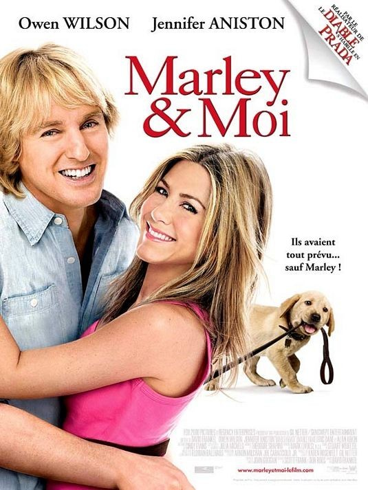 Marley et moi : Jennifer, Owen Wilson et un chien.