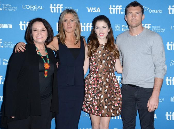 Adriana Barraza, Jennifer Aniston, Anna Kendrick et Sam Worthington à Toronto le 9 septembre 2014