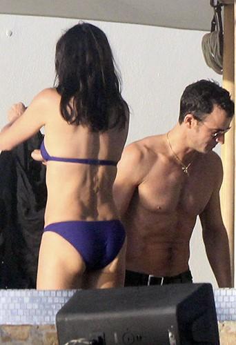 Courteney Cox et Justin Theroux en vacances à Los Cabos le 28 décembre 2013