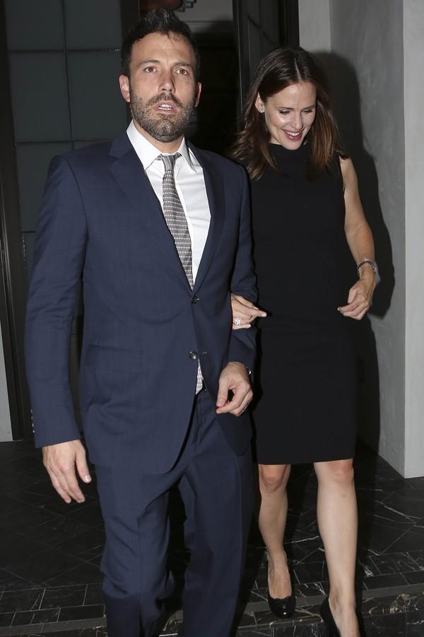Jennifer Garner et Ben Affleck à Brentwood le 25 octobre 2012