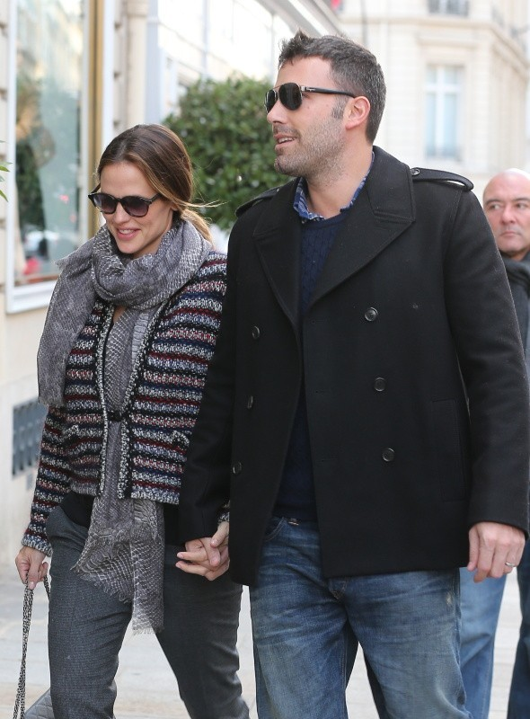 Jennifer Garner et Ben Affleck, Paris, 15 octobre 2012.