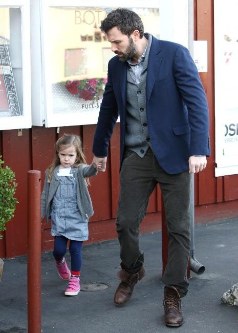 Ben Affleck et Seraphina, Brentwood, 7 février 2013.