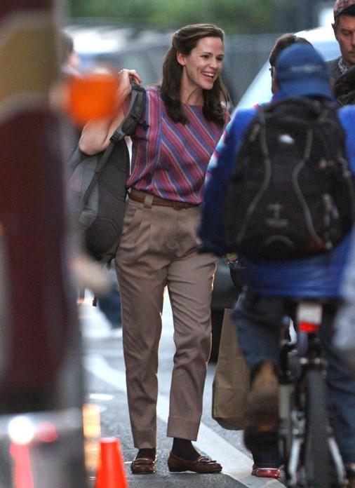 Jennifer Garner sur le tournage de The Dallas Buyers à la Nouvelle-Orléans le 15 novembre 2012