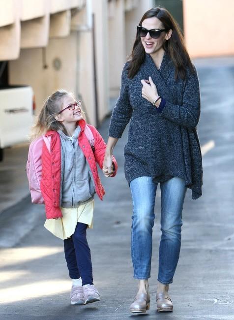 Jennifer Garner et Violet le 8 janvier 2013 à Brentwood
