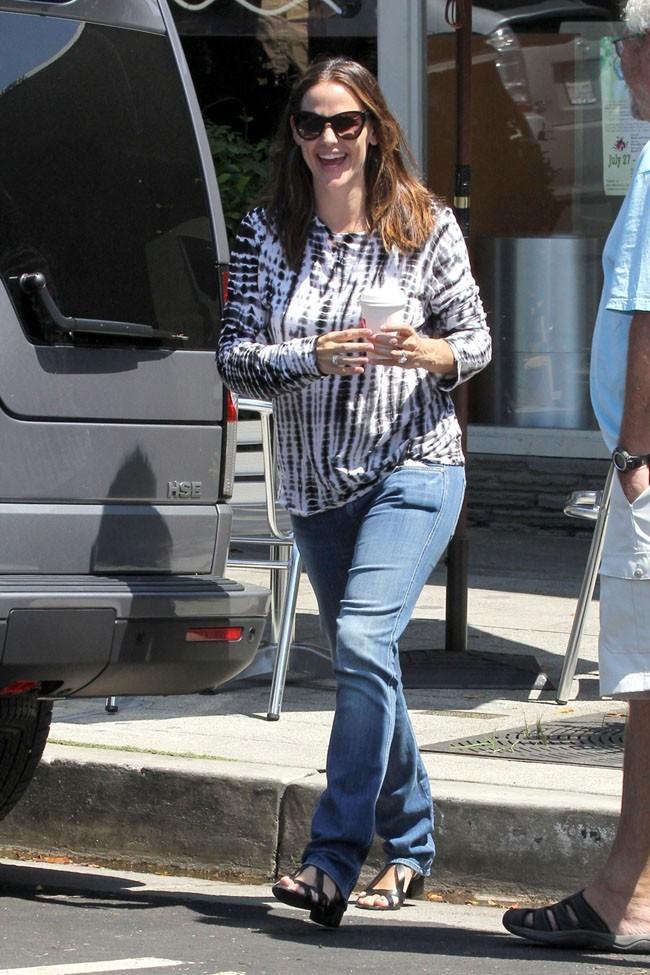 Jennifer Garner le 7 août 2012 à Pacific Palisades