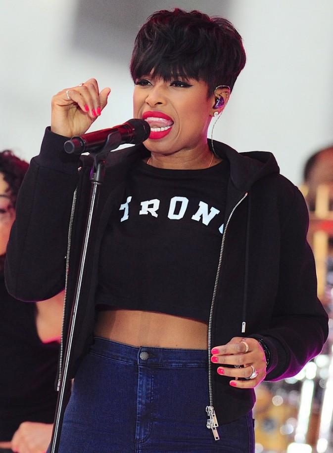 Jennifer Hudson chante Dangerous sur le plateau du Today Show, à New York le 19 août 2014.