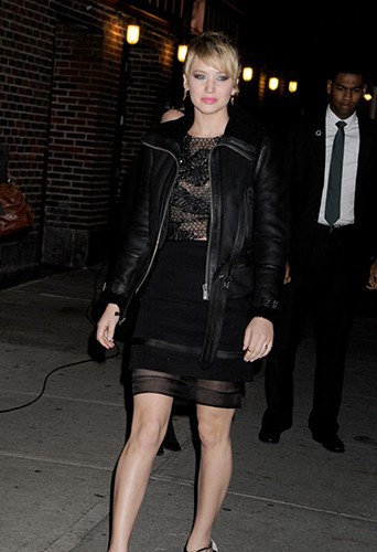 Jennifer Lawrence à New-York le 20 novembre 2013