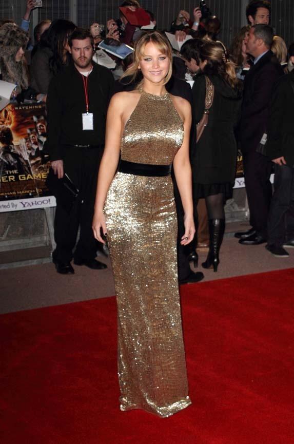 Jennifer Lawrence à l'avant-première européenne d'Hunger Games à Londres