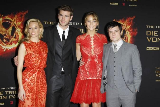 Toute l'équipe d'Hunger Games hier à Berlin !