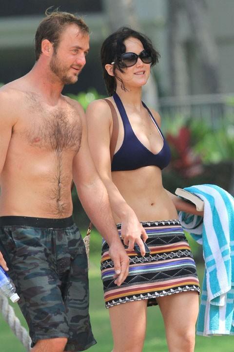 Jennifer Lawrence à Hawaï avec son frère le 22 novembre 2012