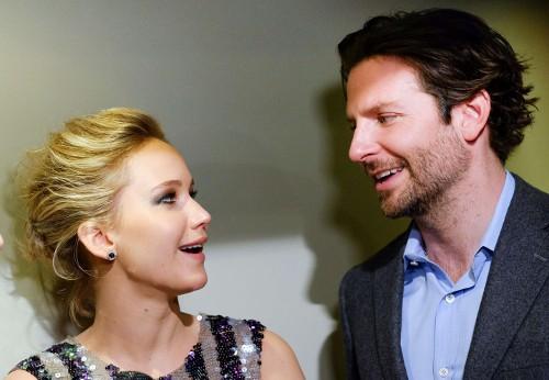 Jennifer Lawrence et Bradley Cooper à New-York le 21 mars 2015