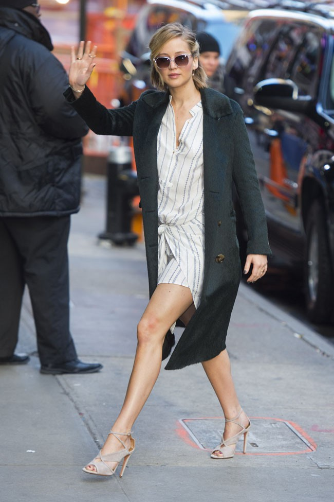 Jennifer Lawrence à New-York le 13 novembre 2014