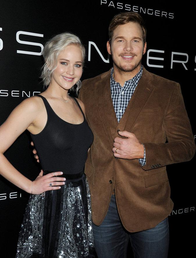Jennifer Lawrence et Chris Pratt au CinemaCon 2016 à Las Vegas