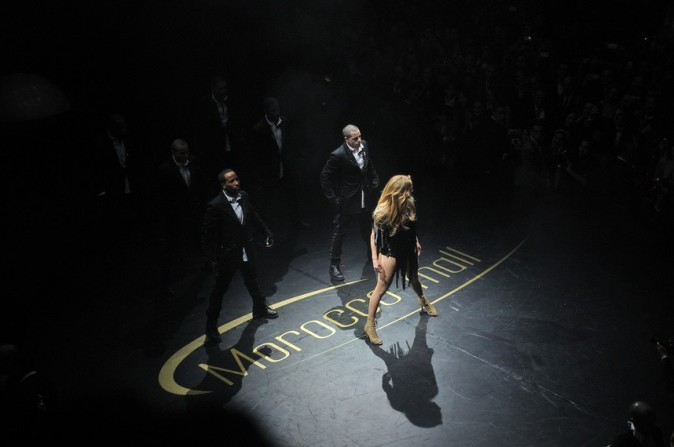 Jennifer Lopez lors de l'inauguration du Morocco Mall à Casablanca, le 1er décembre 2011.