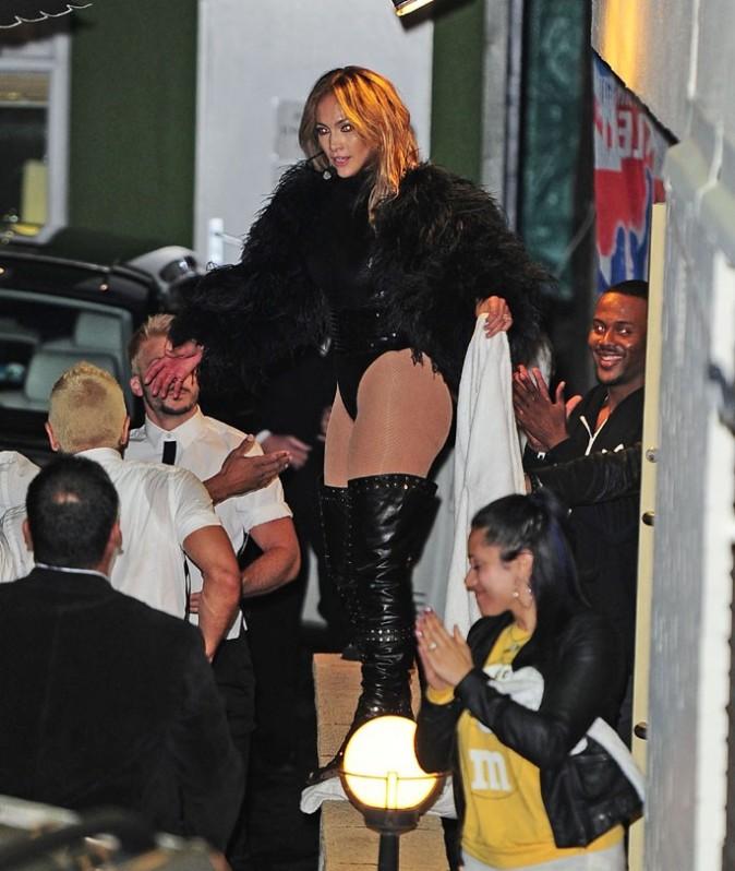 Jennifer Lopez après son passage sur le plateau de Britain's Got Talent à Londres le 28 mai 2013