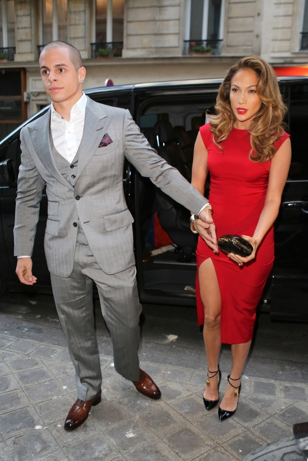 Casper Smart et Jennifer Lopez au cocktail d'Anna Wintour à Paris le 1 er octobre 2012