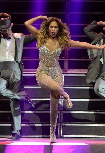 Jennifer Lopez en concert à Puerto Rico le 22 décembre 2012