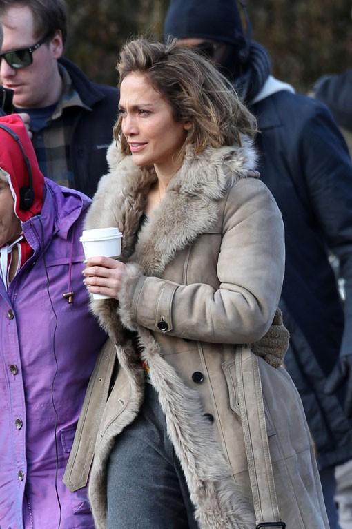 """Jennifer Lopez avec sa maman sur le tournage de son nouveau film """"Lila & Eve"""" à Decatur le 21 janvier 2014"""