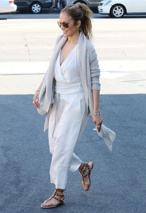 Jennifer Lopez et Casper Smart à Los Angeles le 29 mars 2015