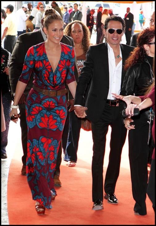 Jennifer Lopez et Marc Anthony à Miami, le 3 janvier 2010.