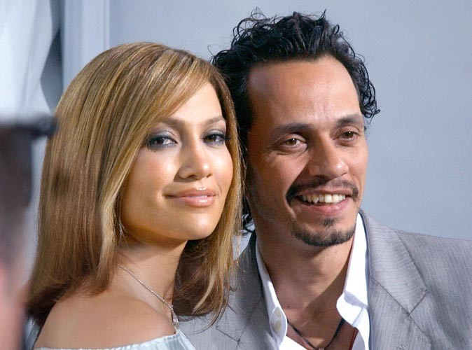 Jennifer Lopez et Marc Anthony lors de la première du film Monster in Law, le 29 avril 2005.