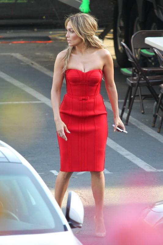 Jennifer Lopez à West Hollywood, le 27 mars 2014.