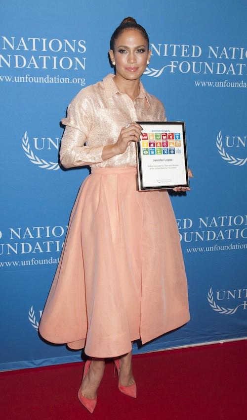 Photos : Jennifer Lopez : folle amoureuse, elle s'engage elle aussi avec l'Onu !
