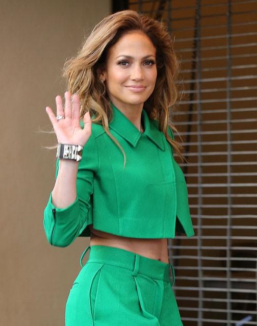 Jennifer Lopez à Hollywood pour les auditions d'American Idol le 28 octobre 2014