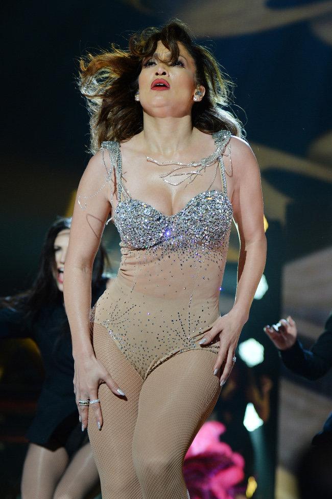 Jennifer Lopez en concert à Miami le 7 novembre 2015