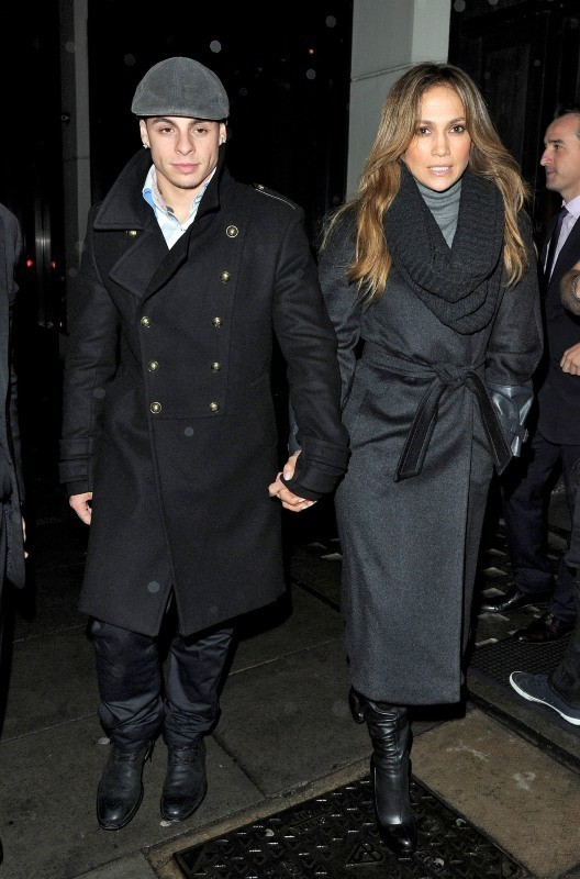 Casper Smart et Jennifer Lopez à Londres, le 21 octobre 2012.