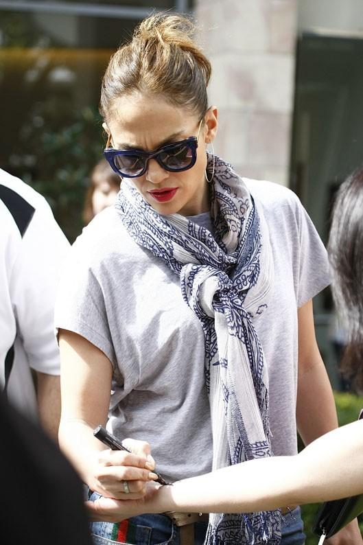 Jennifer Lopez et Casper Smart à Perth le 6 décembre 2012