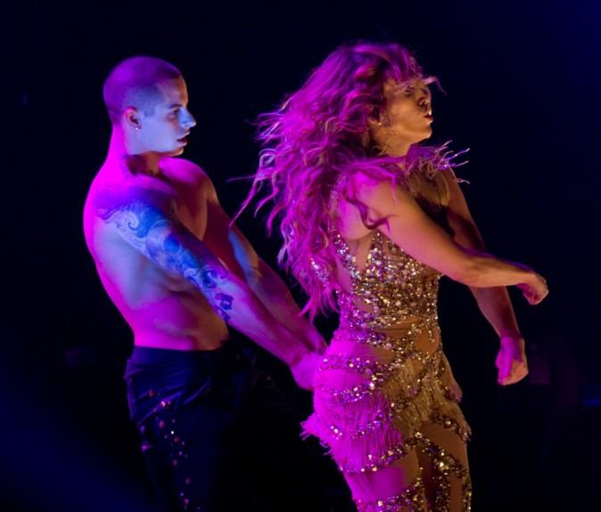 Jennifer Lopez avec Casper Smart en concert le 20 juillet 2012 à Newark
