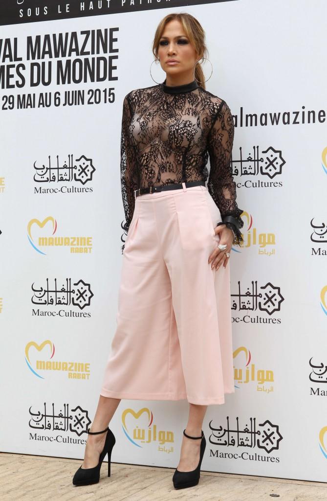 Jennifer Lopez au Maroc le 28 mai 2015