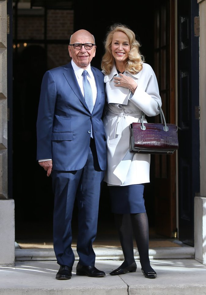 Jerry Hall et Rupert Murdoch