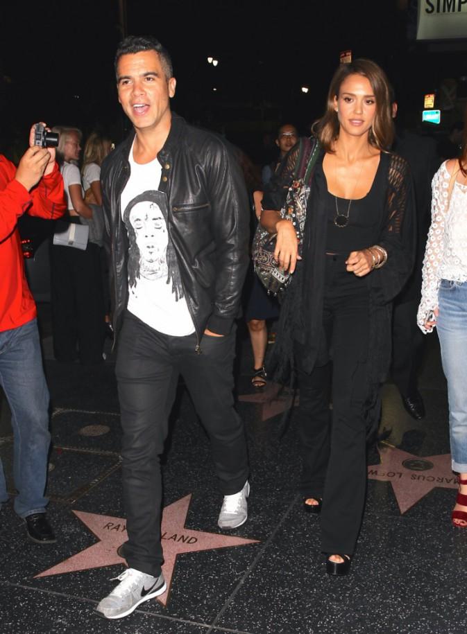 Jessica Alba et Cash Warren le 27 septembre 2015