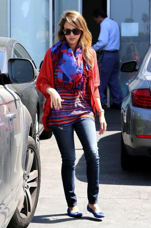 Jessica Alba, Santa Monica, 26 avril 2013
