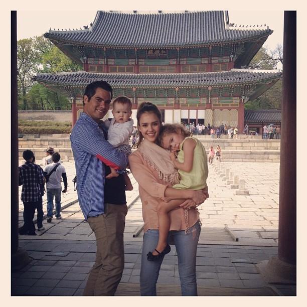 Visite de temple avec les filles
