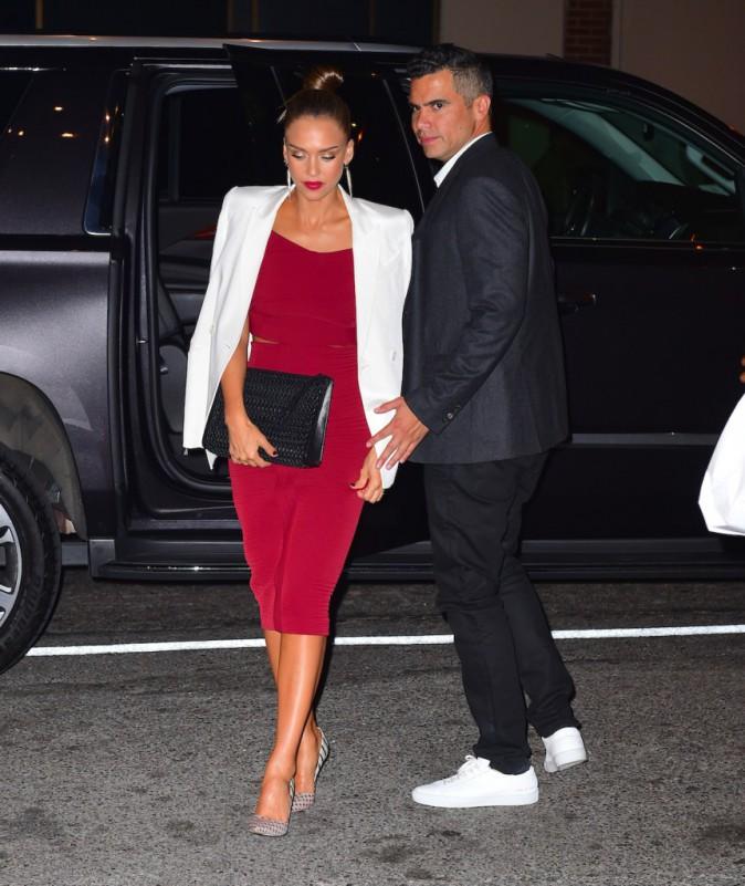 Jessica Alba et Cash Warren à New York le 15 août 2015