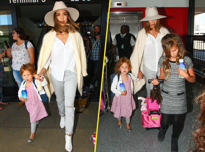 Jessica Alba : radieuse avec ses baby girls !