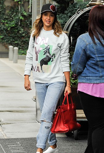 Jessica Alba à New York le 16 septembre 2014