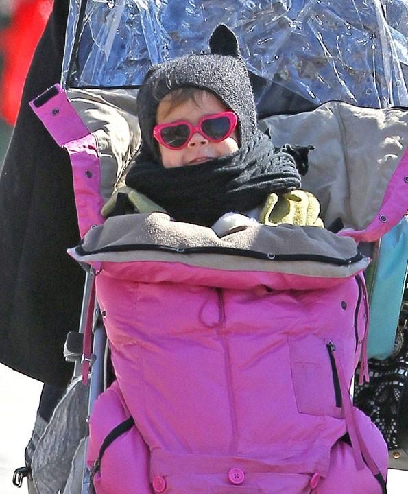 Même la petite Honor Marie est ravie de ses vacances à NYC !