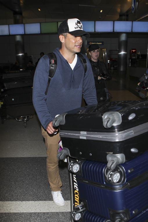 Cash Warren à l'aéroport de LAX le 4 janvier 2015